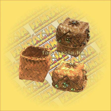Doboz Négyszög Fonott  barna
