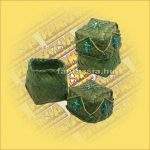 Doboz Négyszög Fonott  zöld