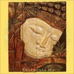 Buddha Panelkép négyrészes,fehér színű