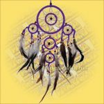 Álomfogó (Álomőrző,Álomcsapda) dupla lila 12cm
