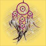 Álomfogó (Álomőrző,Álomcsapda) dupla rózsaszín 12cm