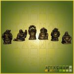Nevető Buddha Szett (6db) Arany Színű