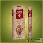 HEM Rose Musk/HEM Pézsmarózsa illatú indiai füstölő