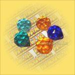 Szivárványkristály (Feng Shui) Gömb színes   30mm