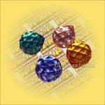 Szivárványkristály (Feng Shui) Swarowski sárga vagy kék színben  40mm