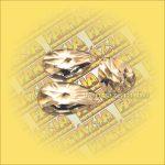 Szivárványkristály (Feng Shui) Levél ,csillag csiszolás  38mm