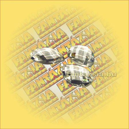 Szivárványkristály (Feng Shui) Levél ,rombusz csiszolás 38mm