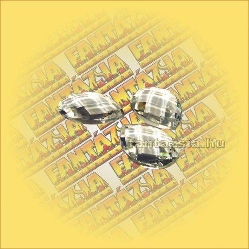 Szivárványkristály (Feng Shui) Levél ,rombusz csiszolás 50mm