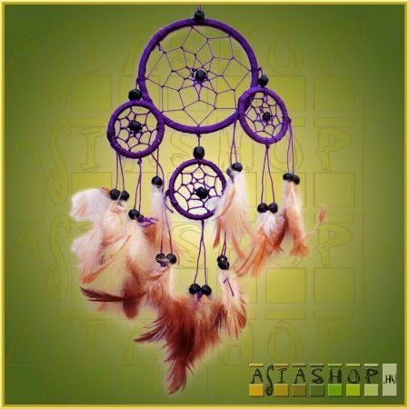 Álomcsapda (álomfogó) lila 9cm,1nagy+3kicsi