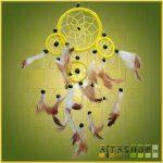 Álomcsapda (álomfogó) sárga 9cm, 1nagy+3kicsi
