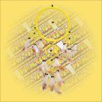 Álomcsapda (álomfogó) sárga 22cm