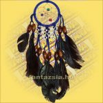 Álomfogó (Álomőrző,Álomcsapda) indián díszes, kék 6 cm