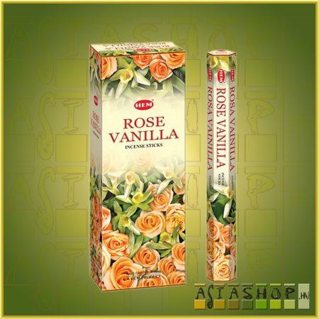 HEM Vanilla Rose/HEM Vanília  Rózsa indiai füstölő
