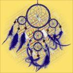 Álomfogó (Álomőrző,Álomcsapda) tükrös lila 11cm