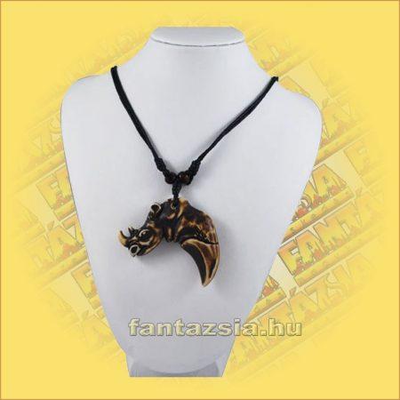 Nyaklánc Állítható - Halcsont Rinocérosz medállal