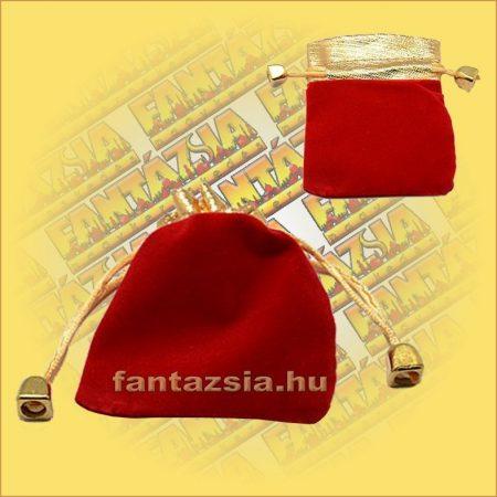 Ékszertartó  Szütyő piros