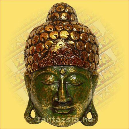 Buddha Arc Maszk zöld 40cm