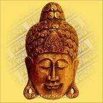 Buddha Arc Maszk arany 30cm
