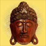 Buddha Arc Maszk bordó 30cm