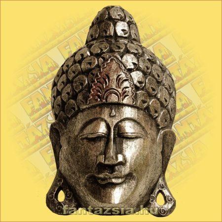 Buddha Arc Maszk ezüst 30cm