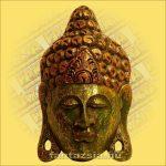 Buddha Arc Maszk zöld 30cm