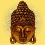 Buddha Arc Maszk arany 50cm