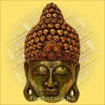Buddha Arc Maszk zöld 50cm