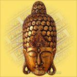 Buddha Arc Maszk arany 60cm