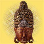Buddha Arc Maszk bordó 60cm