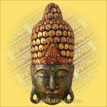 Buddha Arc Maszk zöld 60cm