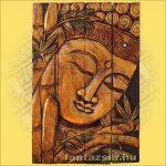 Buddha Falikép Arany Színű