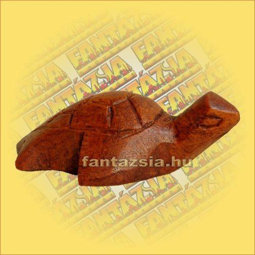 Teknős Figura Sono fából