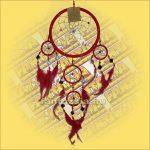 Álomfogó (Álomőrző,Álomcsapda) tükrös piros 17cm