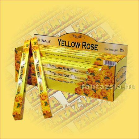 Sárga Rózsa Indiai Füstölő / Tulasi Yellow Rose