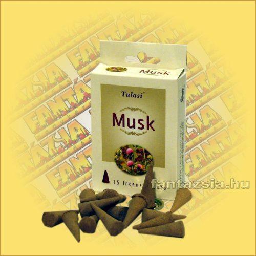 Kúpfüstölő Pézsma / Tulasi Musk Füstölő Kúp