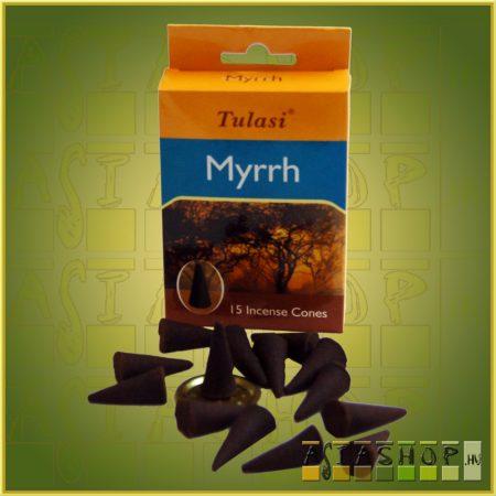 Kúpfüstölő Mirha / Tulasi Mirrh Füstölő Kúp