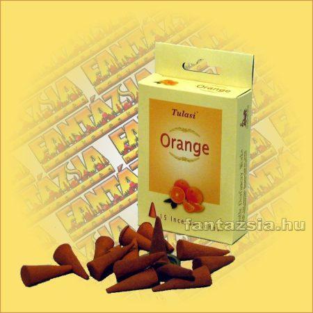 Kúpfüstölő Narancs / Tulasi Orange Füstölő Kúp