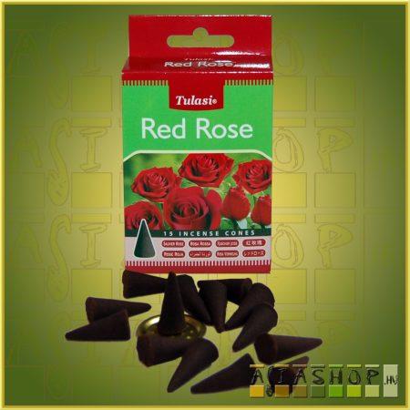 Kúpfüstölő Vörös Rózsa / Tulasi Red Rose Füstölő Kúp