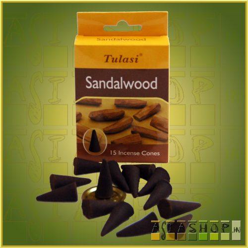 Kúpfüstölő Szantál / Tulasi Sandalwood Füstölő Kúp