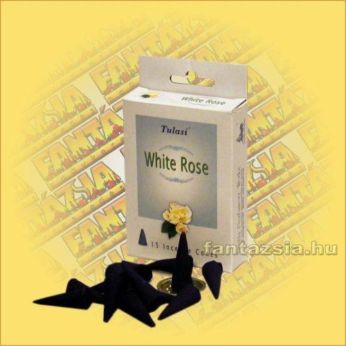 Kúpfüstölő Fehér Rózsa / Tulasi White Rose Füstölő Kúp