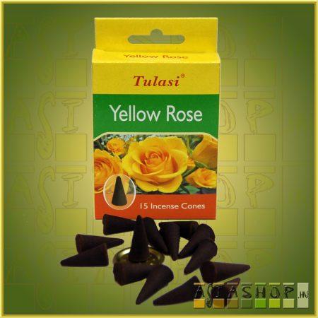 Kúpfüstölő Sárga Rózsa / Tulasi Yellow Rose Füstölő Kúp