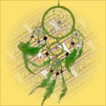 Álomfogó (Álomőrző,Álomcsapda) tükrös zöld 11cm