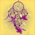 Álomfogó (Álomőrző,Álomcsapda) tükrös rózsaszín 11cm