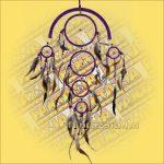 Álomfogó (Álomőrző,Álomcsapda) lila 22cm