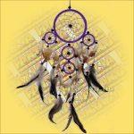 Álomfogó (Álomőrző,Álomcsapda) lila 12cm