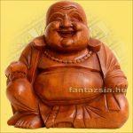 Buddha Szerencsehozó 20cm -Trópusi fa