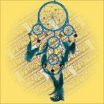 Álomfogó (Álomőrző,Álomcsapda) tükrös világoskék 11cm