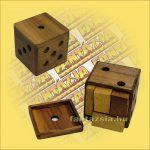 Trópusi Fa Logikai Játék - dobokocka puzzle fatokos 429 9x9cm