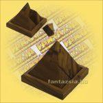 Trópusi Fa Logikai Játék - tömör piramis 418 10x10x10cm
