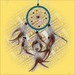 Álomfogó (Álomőrző,Álomcsapda) világoskék 11cm